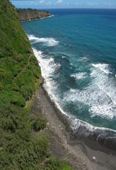 Pololu Valley - Hawaii/USA by Tom Benedict (vertical stitch of 3 photos)